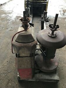 2 Vintage Coats Tire Changer Machine Model 3 And Model 1010