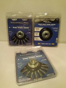 Buy 2 Get 1 Free Forney 72835 Wire Wheel Brush Industrial Pro Twist Knot a08