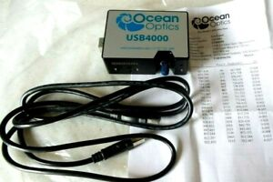 Ocean Optics Usb4000 Fiber Optic Spectrometer With Usb Cable Calibrated Paper