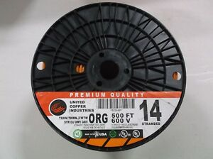 14 Ga Stranded Orange Awg Copper 600v Thhn mtw thwn awm Wire 500 Orange