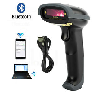 Bluetooth Wireless Cordless Handheld Automatic Laser Barcode Scanner Upc Reader