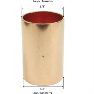 Libra Supply 1 2 Inch 1 2 Copper Coupling With Dimpled Stop C X C 50pcs