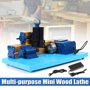 Multi purpose Motorized Mini Lathe Diy Wood Turning Grinding Machine 3 Jaw Chuck