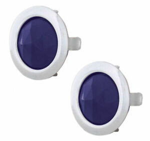 Glass Blue Dots With Rings Car Truck Street Rod Pair