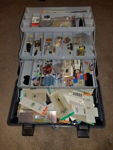 Electronics Tool Box With Resistors Capacitors And Other Electrical Components