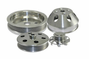 Sbc Chevy 283 400 Machined Aluminum Swp Serpentine Pulley Kit