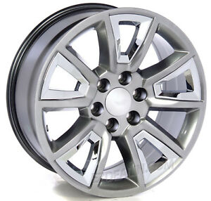20 Hyper Silver And Chrome Wheels Rims Chevy Silverado Tahoe Suburban Ltz