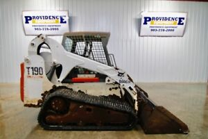 Bobcat T190 Turbo Skid Steer Track Loader 61 Hp Turbo 7612 Lbs Oper Weight