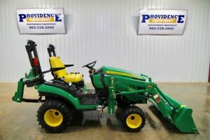 2013 John Deere 1025r Diesel Tractor Loader Quick Hitch 4wd Only 103 Hours