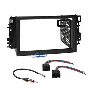 Car Radio Stereo Double Din Dash Kit Wire Harness For 2007 2011 Chevrolet Aveo