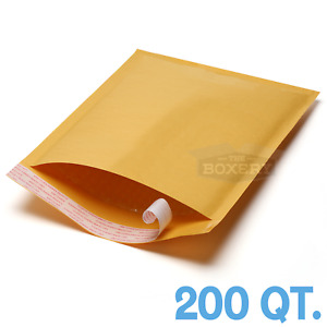 200 2 8 5 X 12 Kraft Bubble Padded Envelopes Mailers From The Boxery