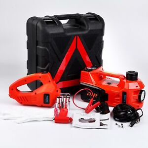 3 In 1 12v Dc 3t Electric Hydraulic Floor Jack Lift 6600 Lbs Tool Kit Truck