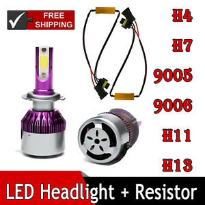 Led 9005 9006 H4 H7 H11 H13 Cree Headlight Canbus Error Free Anti Flicker For Vw