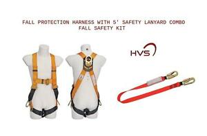 Fall Protection Harness With 5 Shock Absorber Combo Fall Safety Kit Hvs usa
