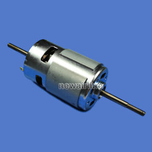 1pcs Rs775 Dc12 24v 3000 20000rpm Double Shaft High Speed Dc Motor For Diy Parts