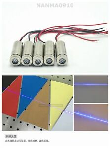 5pcs New Focusable 50mw 405nm Violet blue Dot line Beam Laser Diode Module
