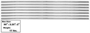 1954 59 Chevy Pickup Bed Strip Kit Stainless Steel For Short Bed 7 Pieces New