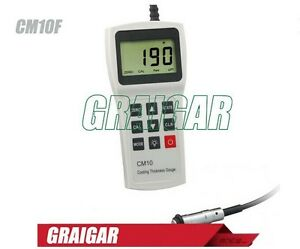 New Coating Thickness Meter Tester Gauge Cm10f 0 3000um Led Backlight Display