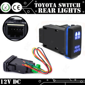 Blue Led Rear Lights Push Button Switch For Toyota Land Cruiser Fj Hilux Prado