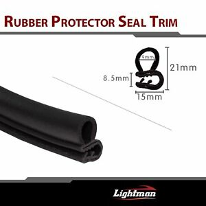 240 Pvc Seal Edge Trim Strip Auto Door Trunk Hood Noise Weatherstrip black