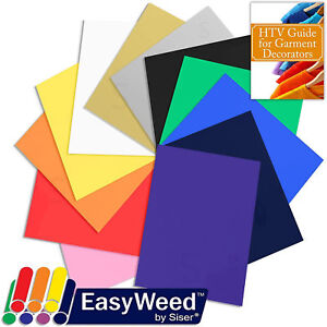 Easyweed Heat Transfer Vinyl Sample Pack Printing Graphics Arts Assorted Guide