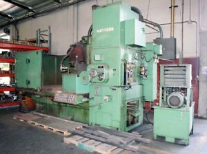 72 Swing 60 Chuck Mattison Rotary Surface Grinder 125hp Stock 5320