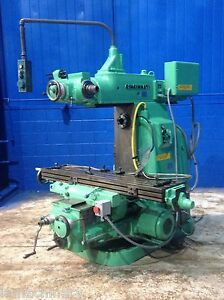 14 X 56 Table Cincinnati Horizontal Vertical Head Metal Milling Machine