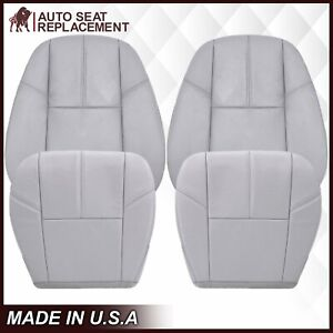 2007 2008 2009 2010 2011 2012 13 Chevy Silverado Bottom Leather Seat Cover Gray