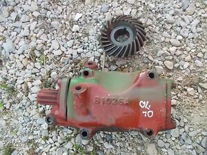 Oliver 70 Rowcrop Tractor Belt Pulley Drive Gear Box Assembly Main Drive Gear