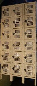Metal Lockers School Gym Employee multi 18 Compartments