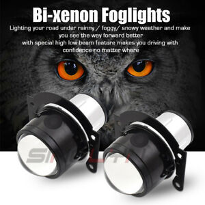 H11 Hid Bi Xenon Fog Lights Driving Lamp Projector Lens Car Motorcycle Universal