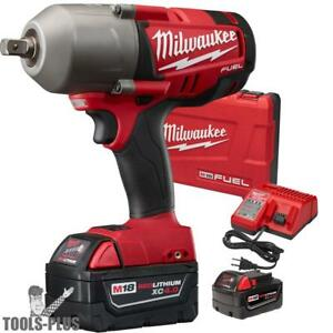 Milwaukee 2762 22 M18 Fuel 1 2 High Torque Impact Wrench Kit W Detent Pin New
