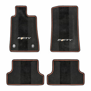 Oem New Front Rear Carpet Floor Mats Black orange W fifty Logo Camaro 23378911