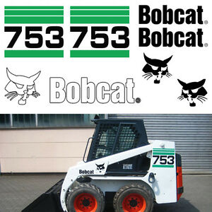 Bobcat 753 V2 Skid Steer Set Vinyl Decal Sticker Bob Cat Made In Usa