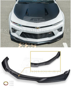Eos Zl1 Style Primered Black Front Bumper Lip Splitter For 16 Up Camaro Ss V8