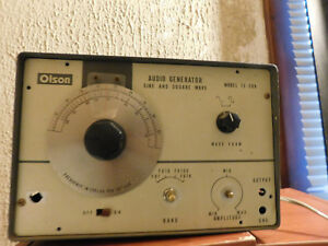 Olson Audio Generator Te 209 For Parts Untested