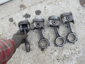Ford 861 Tractor Engine Motor 3 pistons Pistons 4 Rings Rod Rods Ring Rod Caps