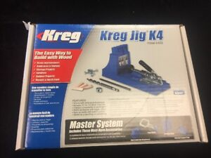 Kreg Portable Deluxe Joinery K4ms Pocket hole System Machine Drill Bit Clamp