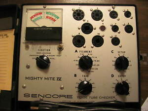 Sencore Tc136 Tube Checker Tester Mighty Mite Iv