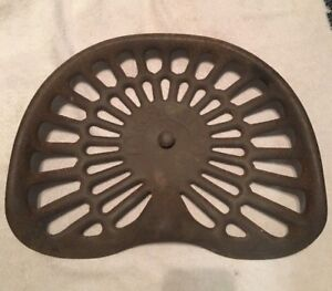 Antique Deering Cast Iron Tractor Seat