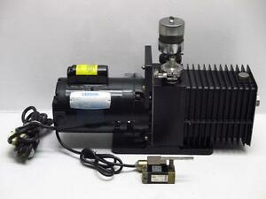 Alcatel 2008ac Dual Stage Rotary Vane Mechanical Vacuum Pump Leeson Motor