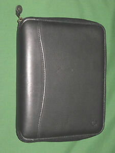 Classic 1 25 Black Leather Franklin Covey Planner Pda Binder Organizer 4370