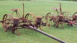 choice Of 1 From 2 Antique 2 Row Horse mule Drawn Corn Planter John Deere
