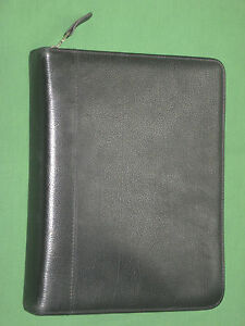 Classic 1 5 Black Top Grain Leather Franklin Covey Quest Planner Binder 2083
