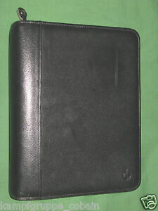 Classic 1 5 Black Top Grain Cowhide Leather Franklin Covey Planner Binder 6024