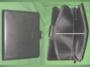 Folio 1 0 Black Leather Day Timer Planner 8 5x11 Monarch Franklin Covey 8182