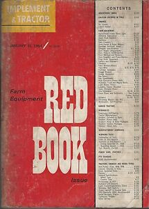Old Vintage January 1964 Manual Implement Tractor Farm Equipment Red Book