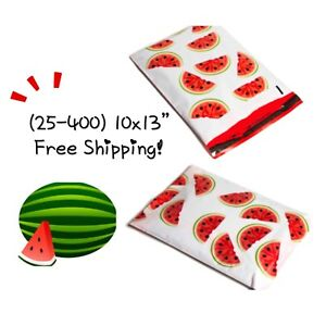 Free Shipping 25 400 Pack 10x13 Watermelon Designer Poly Mailers