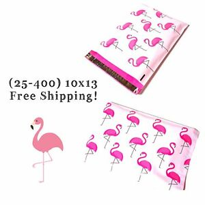 Free Shipping 25 400 Pack 10x13 Pink Flamingo Designer Poly Mailers
