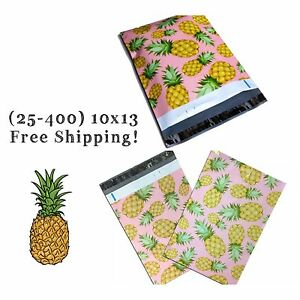 Free Shipping 25 400 Pack 10x13 Pink Pineapple Poly Mailers